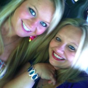Tara with her daughter