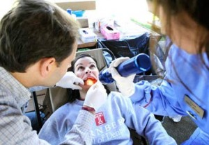 Free screenings performed at the Lehigh Valley Oral Cancer Awareness Walk in Bethlehem PA, a yearly community event chaired by Eva Grayzel. Poster for 2011 event.