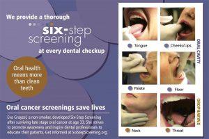 Six-Step Oral Cancer Screening RecarePostcard