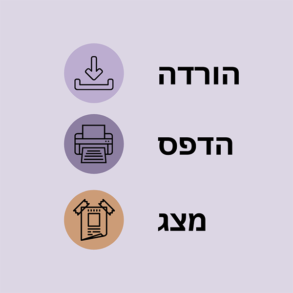 Six-Step Screening Poster 1-2-3 - Hebrew (May 2021)