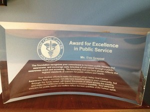 Oral Cancer Foundation Award